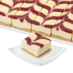 Romige Raspberry Cheesecake Slices